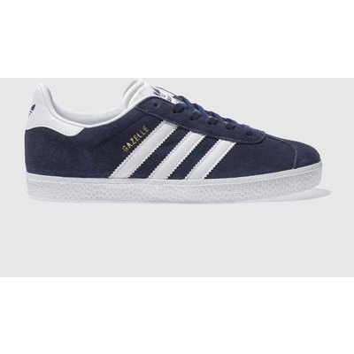 Adidas Navy & White Gazelle Trainers Youth