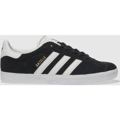 Adidas Black & White Gazelle Trainers Youth