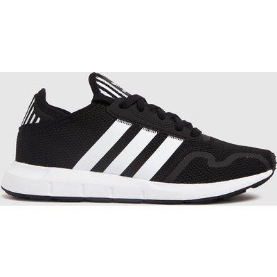Adidas Black & White Swift Run X Trainers Youth