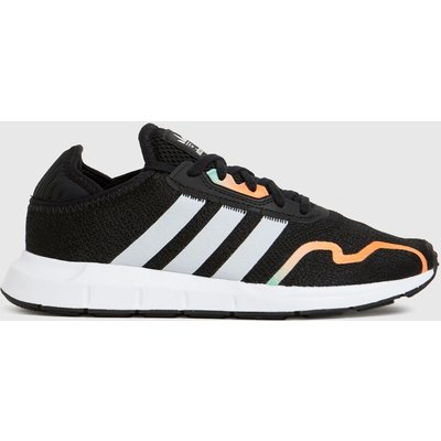 Adidas Black & Silver Swift Run X Trainers Youth