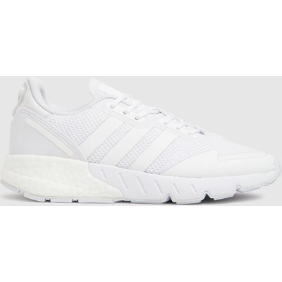 Adidas White Zx 1k Boost Trainers Youth