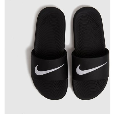 Nike Black & White Kawa Slide Sandals Youth