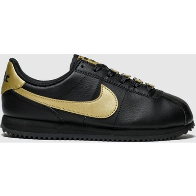 Nike Black & Gold Cortez Basic Trainers Youth