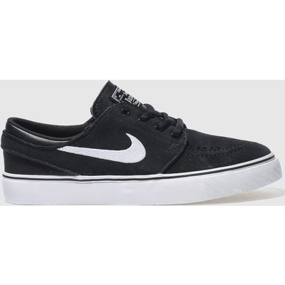 Nike SB Black & White Stefan Janoski Trainers Youth