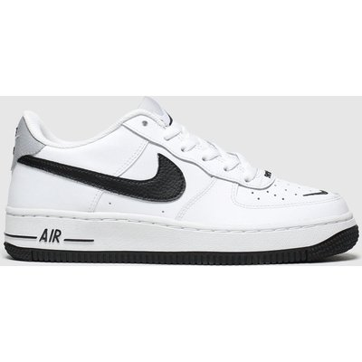 Nike White & Black Air Force 1 Lv8 Trainers Youth