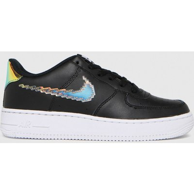 Nike Black & Orange Air Force 1 Lv8 Trainers Youth