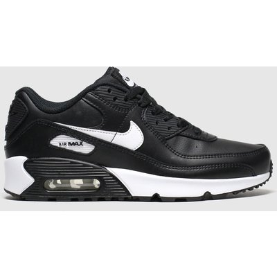 Nike Black & White Air Max 90 Ltr Trainers Youth