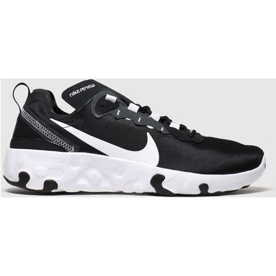 Nike Black & White Renew Element 55 Trainers Youth