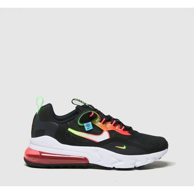 Nike Black & Red Air Max 270 React Trainers Youth
