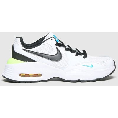Nike White & Black Air Max Fusion Trainers Youth