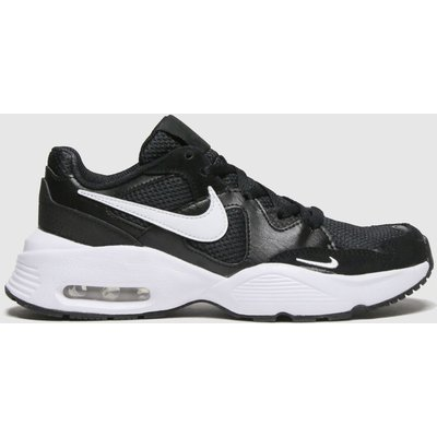 Nike Black & White Air Max Fusion Trainers Youth
