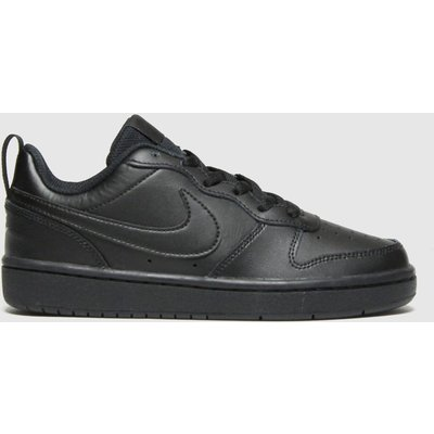 Nike Black Court Borough Low 2 Trainers Youth
