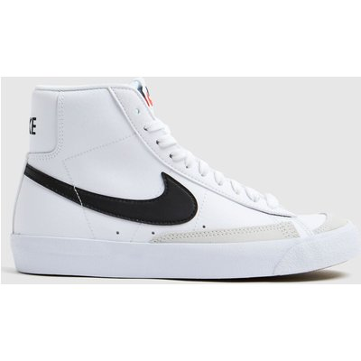 Nike White & Black Blazer Mid 77 Trainers Youth