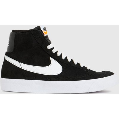 Nike Black & White Blazer Mid 77 Trainers Youth