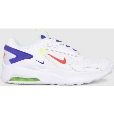 Nike White & Navy Air Max Bolt Trainers Youth