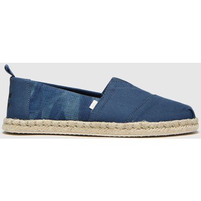 Toms Blue Alpargata Rope Sole Shoes