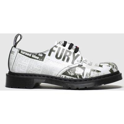 Dr Martens White & Black 1461 Sxp 3 Eye Shoes