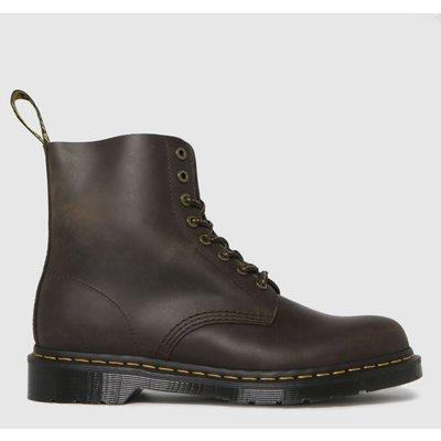 Dr Martens Dark Brown 1460 Pascal Wild Buck Boots