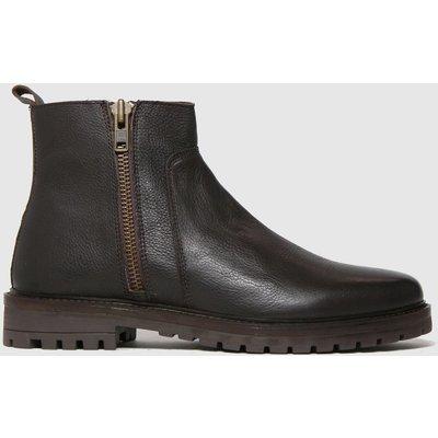 Schuh Brown Marcus Side Zip Boots