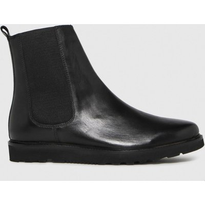 Schuh Black Dean Leather Chunky Chelsea Boots