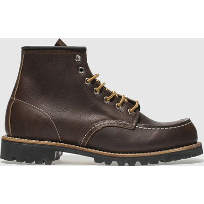 Red Wing Dark Brown 6-inch Classic Moc Boots