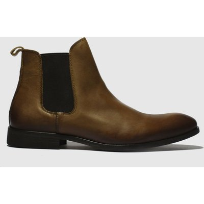 Schuh Tan Khan Chelsea Leather Boots