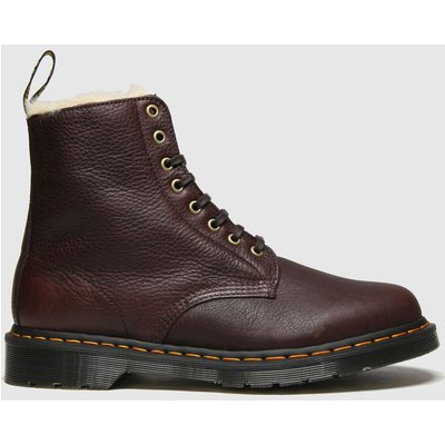 Dr Martens Brown 1460 Pascal Fur Lined Boots