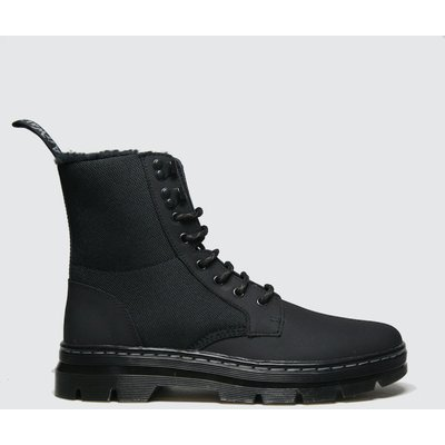 Dr Martens Black Combs Ii Fur Lined Boots