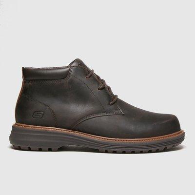 SKECHERS Dark Brown Wenson Boots