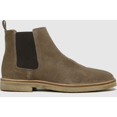 Schuh Natural Owen Suede Chunky Chelsea Boots