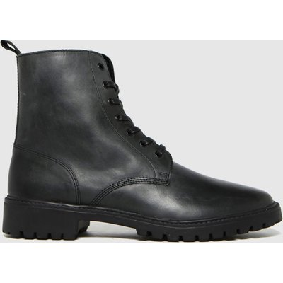 Schuh Black Ronan Leather Lace Up Boots