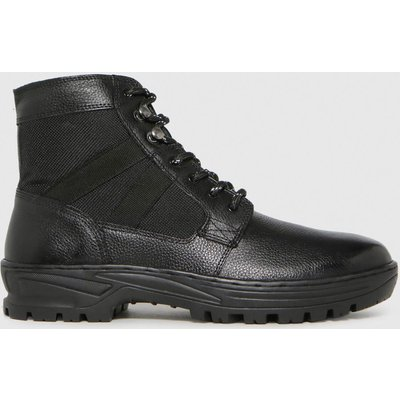 Schuh Black Chase Leather Hiker Boots