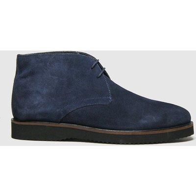 Schuh Navy & Black Griffin Chukka Boots