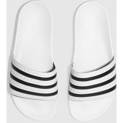 Adidas White & Black Adilette Slide Sandals