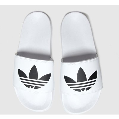 Adidas White & Black Adi Adilette Lite Sandals