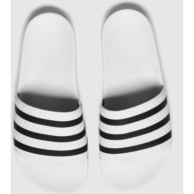 Adidas White & Black Adi Adilette Sandals