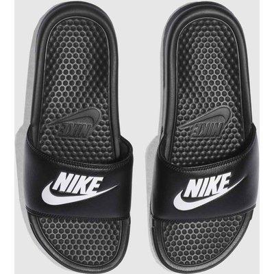 Nike Black & White Benassi Slide Sandals