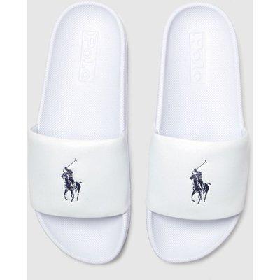 Polo Ralph Lauren White & Navy Cayson Sandals