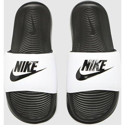 Nike White & Black Victori One Sandals