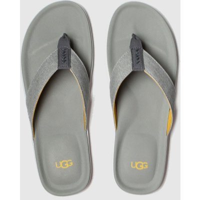 Ugg Grey Brookside Flip Canvas Sandals
