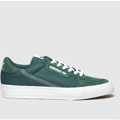Adidas Dark Green Continental 80 Vulc Trainers