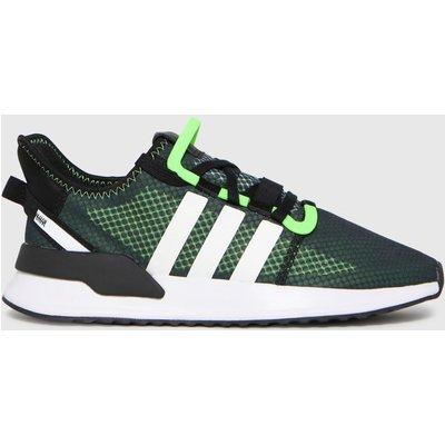 Adidas Black & Green U_path Run Trainers