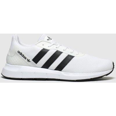 Adidas White & Black Swift Run Rf Trainers