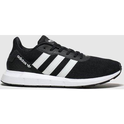Adidas Black & White Swift Run Rf Trainers