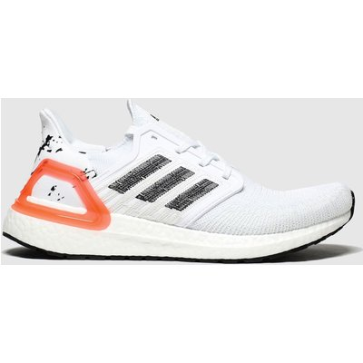Adidas White & Black Ultraboost 20 Trainers