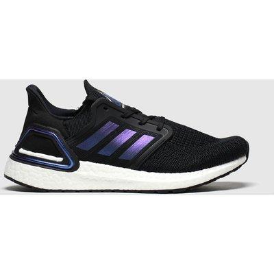 Adidas Black & Purple Ultraboost 20 Trainers