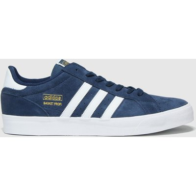 Adidas Navy & White Basket Profi Lo Trainers
