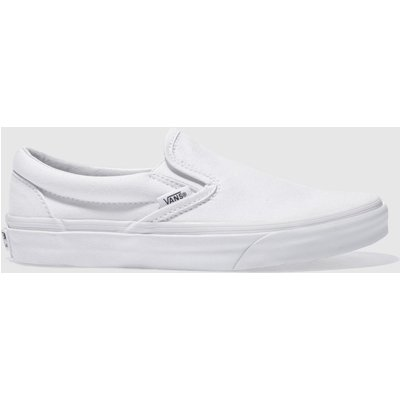 Vans White Classic Slip On Trainers