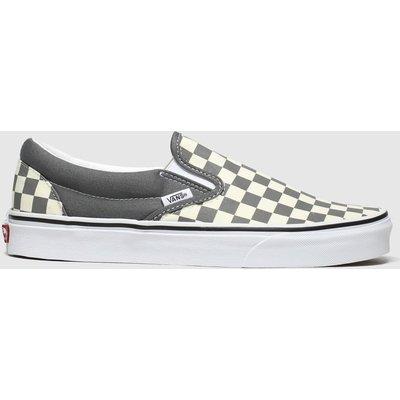 Vans White & Grey Classic Slip-on Trainers