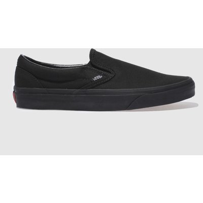 Vans Black Classic Slip On Trainers